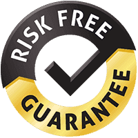 100% No Risk Guarantee Badge