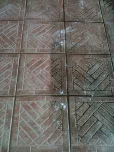 Before and After results from outdoor tile cleaning